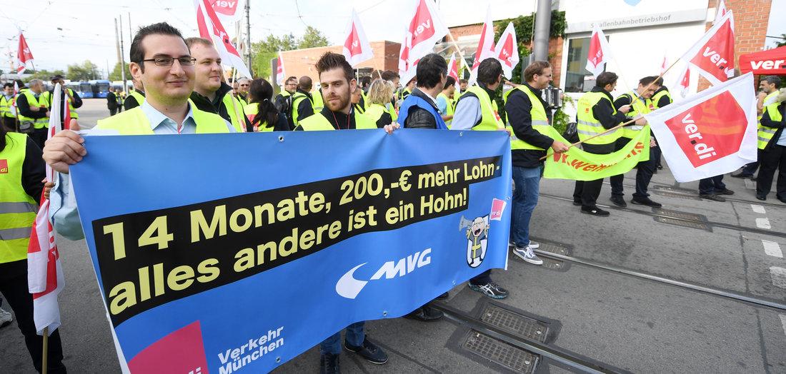 Warnstreik in München