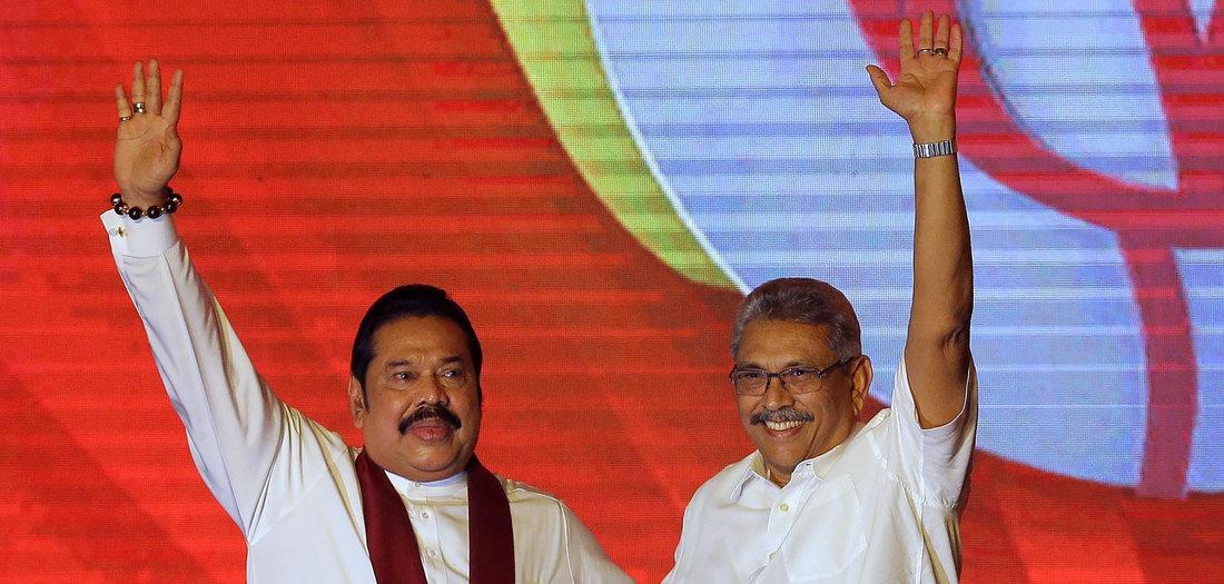 Erdrutschsieg der Rajapaksa-Brüder