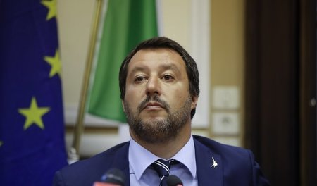 Matteo Salvini am 28. August in Mailand