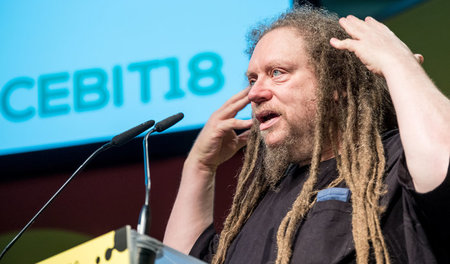 Jaron Lanier während der IT-Messe Cebit (11.6.2018)