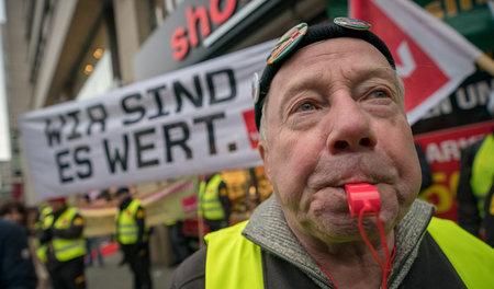 Auf die Kraft der Streikenden gesetzt