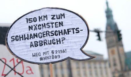 Demonstration gegen den Paragraphen 219 a (Hamburg, 26.1.2019)