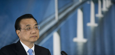 Chinas Premierminister Le Keqiang am Donnerstag im kroatischen B...