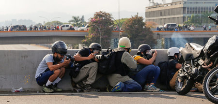 »Militanter Journalismus«? Journalisten in Caracas, 30. April 20...