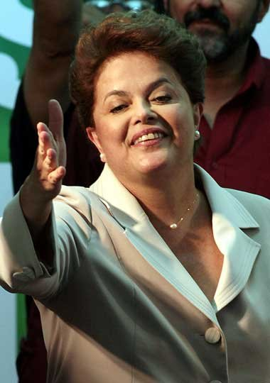 Strahlende Siegerin: Dilma Rousseff