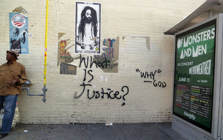Graffiti für Mumia Abu-Jamal in Washington