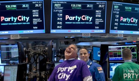 Start der Party City Holdco Inc. an der New York Stock Exchange ...