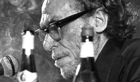 Bukowski live lesend in Hamburg, am 19.5.1978