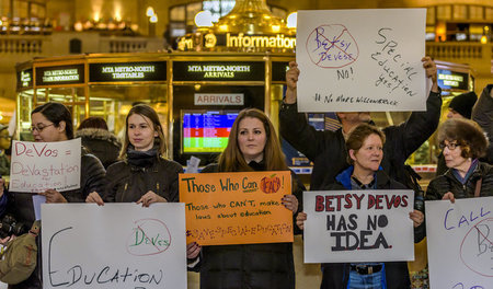 Demonstration in der Grand Central Station in New York gegen die...