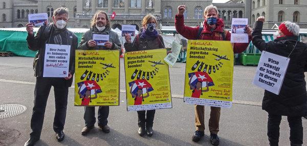 vor dem Bundeshaus in Bern