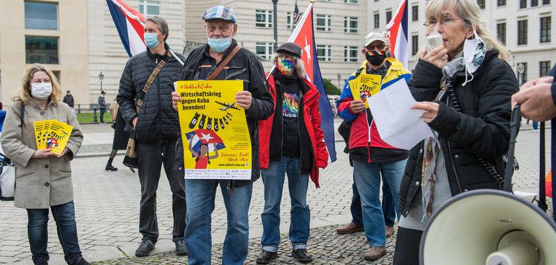 Kundgebung »Unblock Cuba«