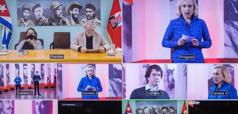 Enrique Ubieta Gómez auf der Rosa-Luxemburg-Konferenz
