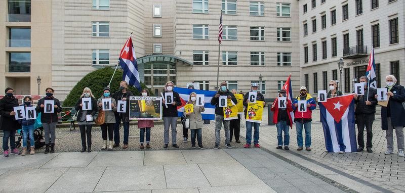 »Unblock Cuba«-Kundgebung in Berlin