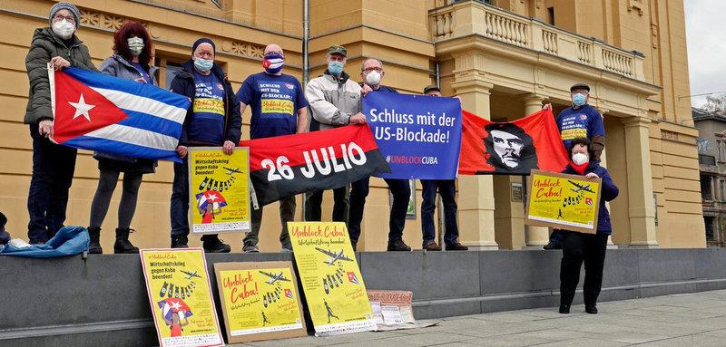 Veranstaltung unter Pandemiebedingungen von »Unblock Cuba« in Gera