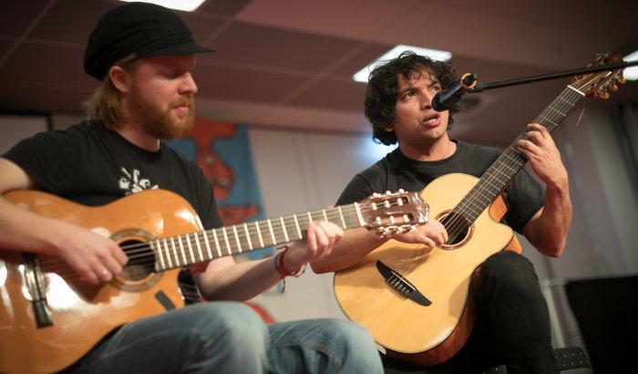 Tobias Thiele und Nicolás Miquea. Foto: Christian Mang