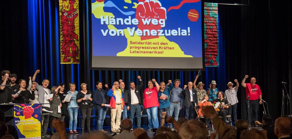 Veranstaltung »Hände weg von Venezuela« in der Berliner Urania