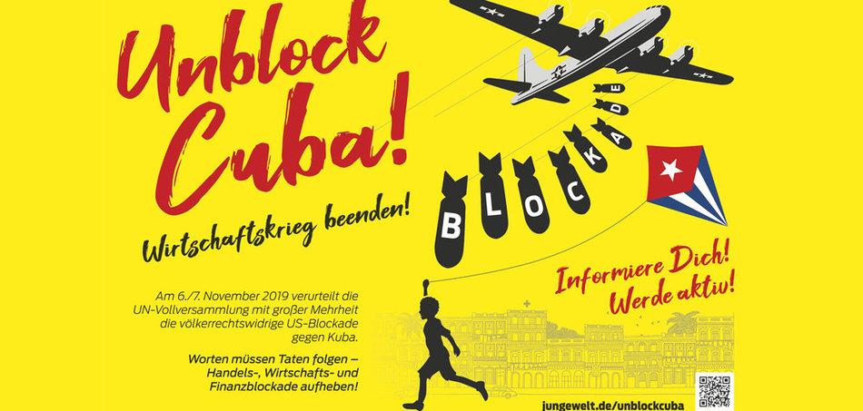 Soliplakataktion für Kuba
