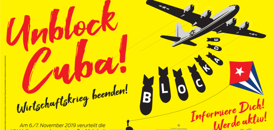 Unblock Cuba Plakataktion
