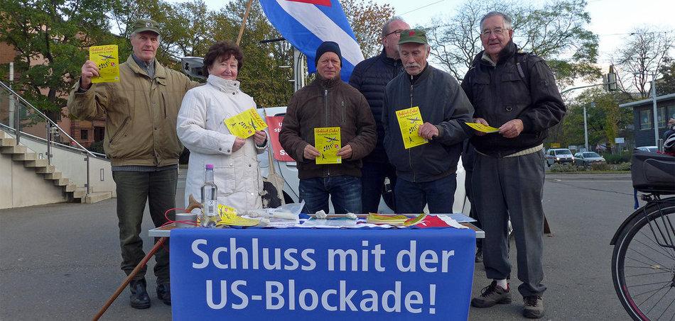 Unblock Cuba: solidarischer Protest in Gera