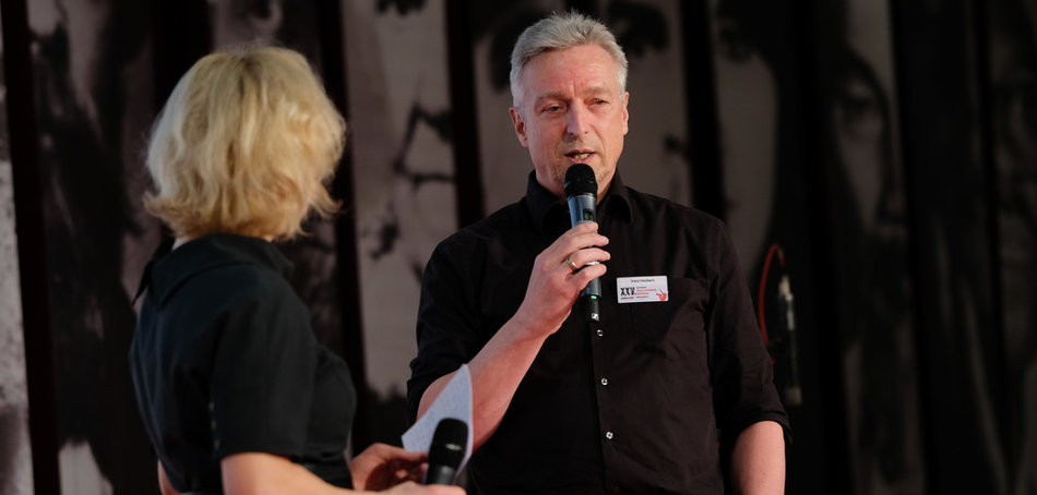 Franz Haslbeck im Gespräch mit Anja Panse. Foto: Christian Mang